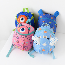 Anti-Loss Children's Small Backpack Elastic Traction Rope Cartoon Shoulder Bookbag Baby Shoulder Bag Walkbag