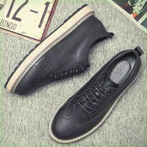 春季7布洛克7鞋韩版潮休闲<span class=H>板鞋</span>雕花英伦风大码皮鞋复古百搭潮鞋