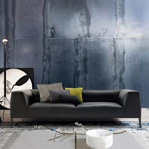 北欧真皮<span class=H>沙发</span>现代简约头层牛皮小户型客厅大气双人三人位定制布艺