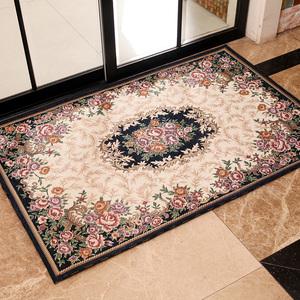 欧式地垫门垫长方形<span class=H>地毯</span>卧家用防滑垫进门红色客厅踏脚垫门厅厨房