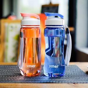 儿童<span class=H>运动</span>健身便携塑料女韩版水瓶夏清新简约韩国可爱小学生水杯子