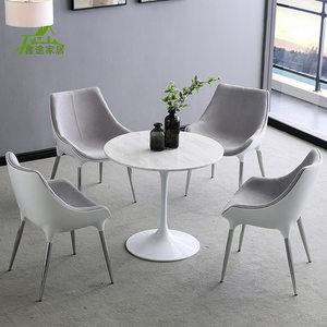 休闲餐桌<span class=H>椅子</span>咖啡厅酒店桌椅简约北欧创意椅商务接待洽谈桌椅组合