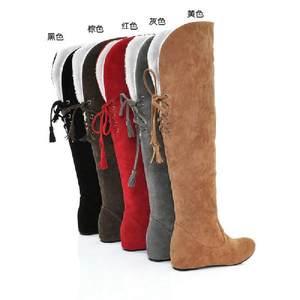 冬季新款大码女靴<span class=H>大筒</span><span class=H>围</span>雪地靴胖mm<span class=H>大筒</span><span class=H>围</span>定做<span class=H>过膝</span>靴<span class=H>长靴</span>加肥靴子