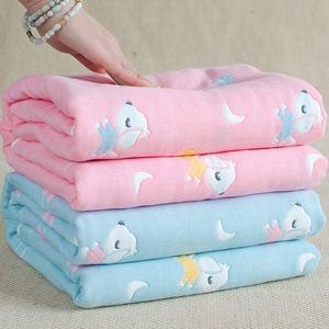 婴儿<span class=H>浴巾</span>宝宝新生儿童初生洗澡6层纯棉纱布<span class=H>毛巾</span>被子盖毯超柔吸水