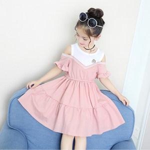 童装女童粉色<span class=H>连衣裙</span>2019新款韩版儿童公主裙纯棉夏季女孩洋气裙子