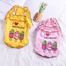 Ice Cream Small Dog and Dog vest Teddy Bommey Summer Thin Pet Clothes Breathable Princess Suspension Skirt