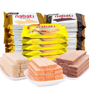 纳宝帝丽芝士richeese印尼进口奶酪威化饼丽巧客richoco<span class=H>饼干</span>零食