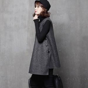 <span class=H>连衣裙</span>女2019新款冬季韩版无袖宽松短打底背心裙春秋羊毛呢马甲裙