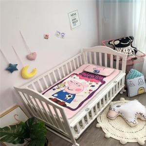 婴幼儿园卡通冰丝<span class=H>凉席</span>儿童夏午睡空调席两件套宝宝小床席子凉枕头