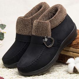 老年人冬天鞋女60岁70老北京布鞋女二棉鞋大码布鞋中年加绒妈妈鞋