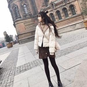 短款棉服<span class=H>女装</span>2017冬季新款韩版宽松加厚连帽棉衣<span class=H>外套</span>小个子面包服