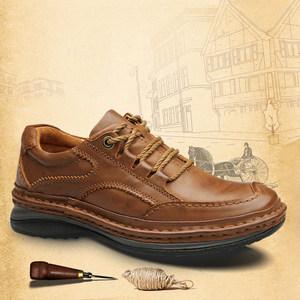 <span class=H>冬季</span>鞋子英伦手工缝制鞋头层牛皮真皮<span class=H>男</span>士休闲鞋<span class=H>厚底</span><span class=H>皮鞋</span><span class=H>男</span>大头鞋