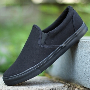 老北京布<span class=H>鞋子</span>45大码46一脚蹬懒人鞋47纯黑色<span class=H>帆布鞋</span><span class=H>男鞋</span>防臭工作鞋