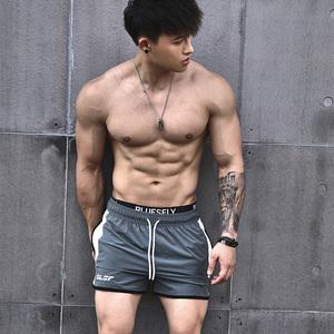 BLUESFLY运动短裤新款侧开叉系带训练跑步健身户外宽松休闲三分裤