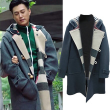 In the first half of my life, I congratulated the same woolen woolen woolen overcoat, horn button jacket, middle and long size windbreaker for men