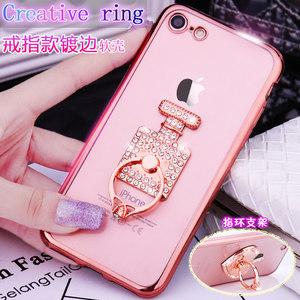 苹果7电镀手机壳a1660硅胶软壳iPhone7<span class=H>?;ぬ?/span>4.7透明后盖指环水钻