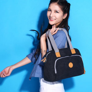 <span class=H>易秀</span>韩版女新款帆布包 时尚潮流单肩斜挎包 户外出游必备手提包女