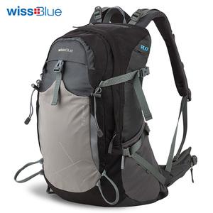 wissblue户外背包登山包双肩男女野营旅行包运动包骑行包35l防水