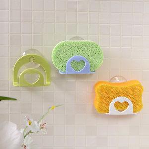 日本进口厨房吸盘水槽置物架吸壁收纳架百洁布洗碗海绵沥水架