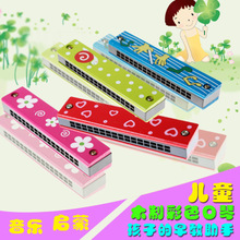 Children's Harmonica Color Wooden Harmonica Playing Music Toys Baby 1-2-3 Years Old Music Educational Instrument