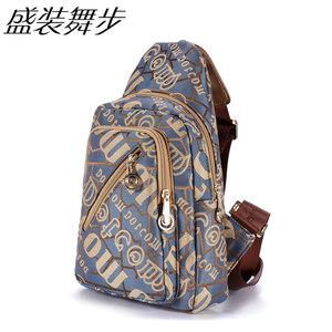 盛装舞步胸包旅行旅游背包品牌新款韩版潮流女包时尚帆布包多层