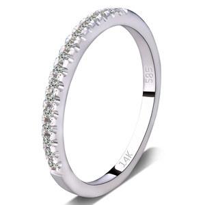 14K金 白金 钻石戒指钻戒女群镶单排钻戒求结婚钻戒排钻戒尾戒