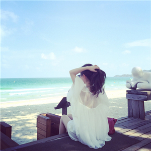 YY网络直播衣服装美女装主播上镜网纱打底甜美超仙雪纺上衣送吊带