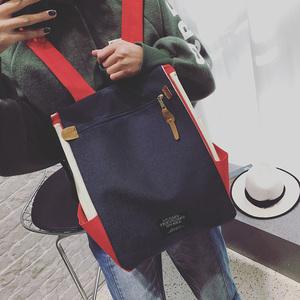 双肩包女2019新款时尚校园帆布书包韩版ins超火包大容量旅游背包