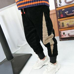 童装<span class=H>男童</span>裤子儿童加绒加厚<span class=H>灯芯绒</span><span class=H>长裤</span>2018韩版冬季宝宝休闲裤棉裤