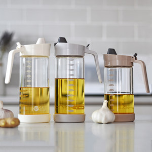日本油壺玻璃防漏廚房用品小油壺食用裝<span class=H>油桶</span>家用醬油罐醋壺瓶油瓶