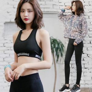 2017夏季新款<span class=H>瑜伽服</span>运动套装跑步健身服女宽松性感网纱罩衫健身房