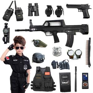 儿童<span class=H>电动</span><span class=H>玩具</span><span class=H>枪</span>套装小特警全套cos套装备小警察装备男孩新年礼物