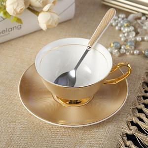 欧式小奢华家用<span class=H>陶瓷</span>咖啡杯套装意式优雅茶杯简约美式骨瓷<span class=H>杯子</span>带碟