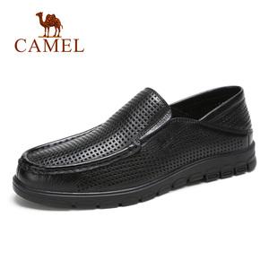 骆驼<span class=H>男鞋</span> 夏季皮<span class=H>凉鞋</span>透气休闲<span class=H>鞋子</span>男镂空皮鞋套脚牛皮爸爸鞋