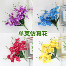 Living room bedroom dining room decoration bouquet single moth orchid simulation flower home decoration plastic flower fake flower bud flower