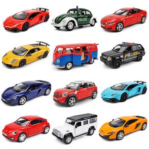 回力车合金小<span class=H>汽车</span>玩具车模型仿真惯性小车公交车轿车女孩男孩儿童