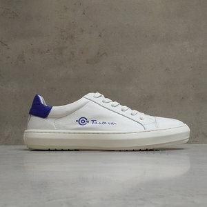 男人味 豆空原创设计logo 个性百搭复古经典牛皮小白鞋休闲鞋男鞋
