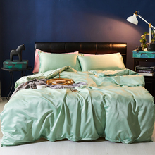 Pure European-style high-grade 60 water-washed silk four sets of ultra-soft ice silk double bedding sheets