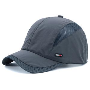 男士<span class=H>帽子</span>夏季户外速干运动防晒太阳帽鸭舌帽棒球帽网帽薄透气遮阳