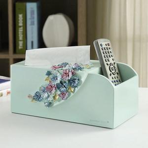 那澜多好 创意欧式时尚可爱简约蝴蝶花树脂纸巾盒抽纸盒 <span class=H>纸巾筒</span>