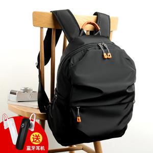 双肩包男韩版时尚潮流书包青年电脑包轻便休闲男包背包户外旅行包