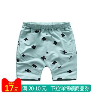 夏季男童女童宝宝韩版运动外出休闲新款时尚五分裤儿童系带短裤子