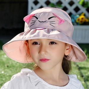 儿童帽子春季空顶帽夏天防晒遮阳帽<span class=H>宝宝</span>太阳帽韩版女童宽檐沙滩帽