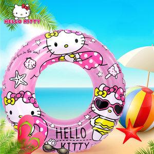 凯蒂猫儿童<span class=H>游泳圈</span>3-6-10岁座圈小孩非救生圈腋下加厚宝宝嬉水泳圈