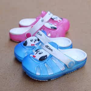 夏季男女童拖鞋儿童凉鞋<span class=H>沙滩鞋</span>花园鞋洞同鞋包头拖鞋柔软透气卡通