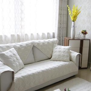 北欧短毛绒白色沙发垫布艺简约现代防滑皮<span class=H>沙发套</span>靠背扶手巾全盖