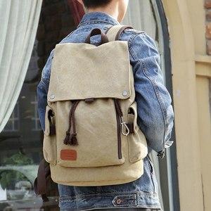 帅气时尚学生书包男士个性帆布潮流背包<span class=H>双肩包</span>韩版休闲旅行包新款