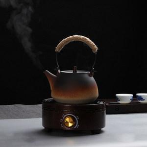 养生<span class=H>陶瓷</span>煮茶壶烧水壶煮茶器加热电陶炉家用小茶炉黑茶煮水壶套装