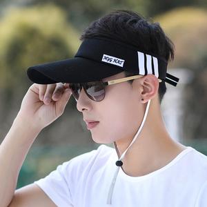 帽子男夏天韩版太阳帽空顶帽男士棒球帽无顶遮阳帽防晒运动鸭舌帽