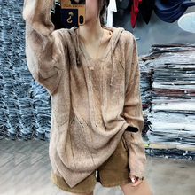European Station Sweaters 2009 Spring Clothes New European Style Hollow Loose Thin Knitted Sweaters Lazy Early Spring Blouses